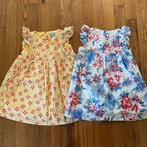 Baby gap floral toddler girl dresses